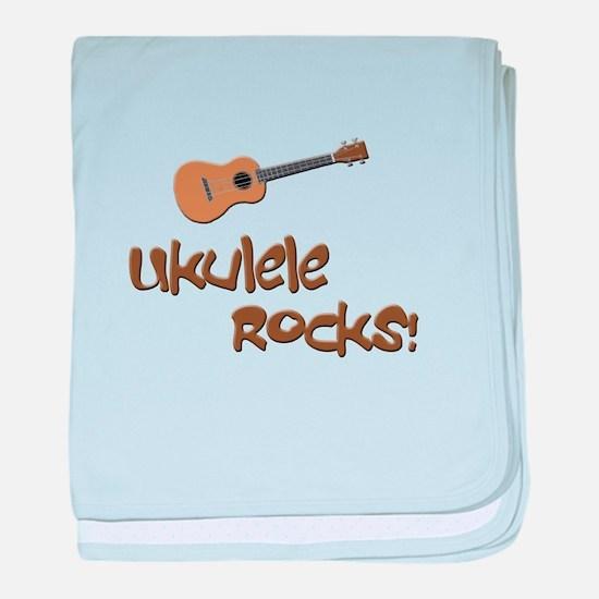 ukulele uke funny ukele design baby blanket