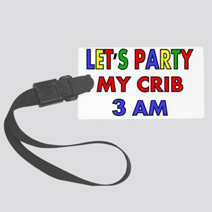 LETS PARTY Large Luggage Tag