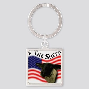 We the Sheeple Square Keychain