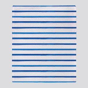 brushstroke stripes - blue Throw Blanket