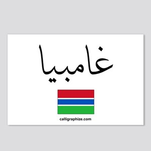 Gambia Flag Arabic Postcards (Package of 8)