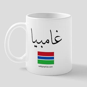 Gambia Flag Arabic Mug