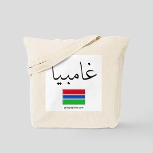 Gambia Flag Arabic Tote Bag