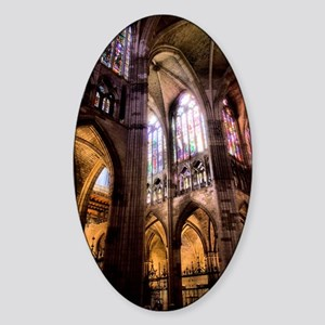 Catedral de Santa Maria de Regla de Sticker (Oval)