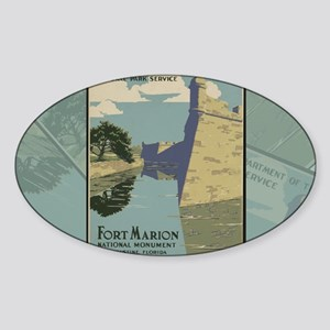 St. Augustine Spanish Fort Marion C Sticker (Oval)