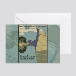 St. Augustine Spanish Fort Marion Ca Greeting Card
