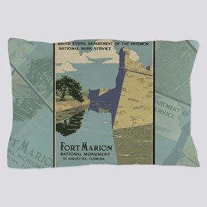 St. Augustine Spanish Fort Marion Cast Pillow Case