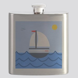 Sailboat Collin Custom Flask