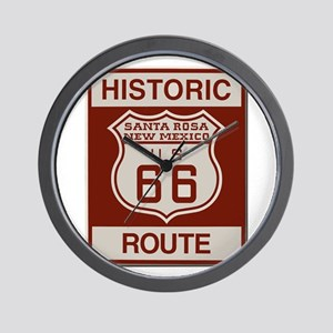 Santa Rosa Route 66 Wall Clock