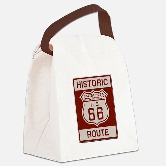 Santa Rosa Route 66 Canvas Lunch Bag
