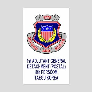 1st AG Detachment (Postal) Sticker