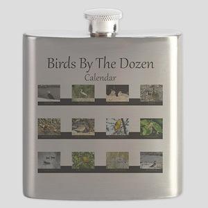 Birds By The Dozen Flask