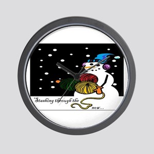 StashingThroughTheSnow Wall Clock