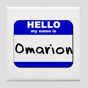 hello my name is omarion  Tile Coaster