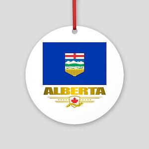 Alberta Flag Round Ornament