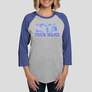 Zeta Tau Alpha Floral Womens Baseball Tee