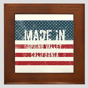 Made in Spring Valley, California Framed Tile