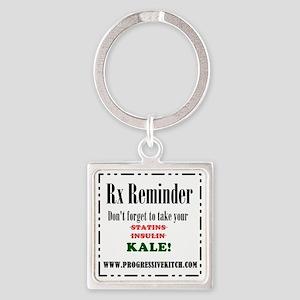 Rx Reminder Square Keychain