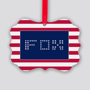 FOX3 Picture Ornament
