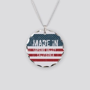 Made in Spring Valley, Calif Necklace Circle Charm