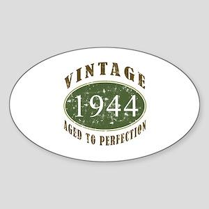 Vintage 1944 Birthday (Green) Sticker (Oval)