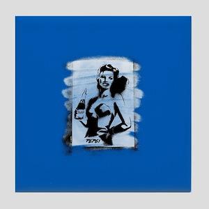 Pepsi Woman-Black/white Tile Coaster