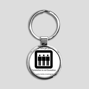 Elevator farts get you high Round Keychain