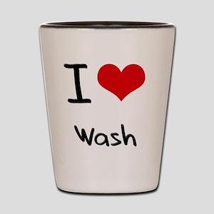 I love Wash Shot Glass