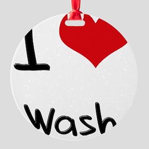 I love Wash Round Ornament
