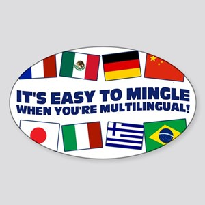 Its Easy to Mingle Sticker (Oval)