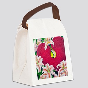Love is flourishing Canvas Lunch Bag