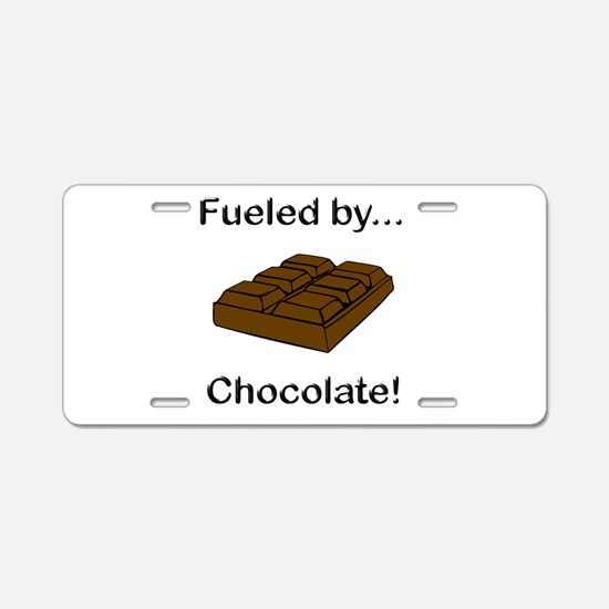 Fueled by Chocolate Aluminum License Plate