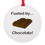 Fueled by Chocolate Round Ornament