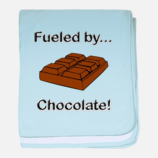Fueled by Chocolate baby blanket