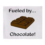 Fueled by Chocolate Throw Blanket