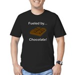 Fueled by Chocolate Men's Fitted T-Shirt (dark)