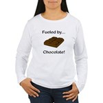 Fueled by Chocolate Women's Long Sleeve T-Shirt