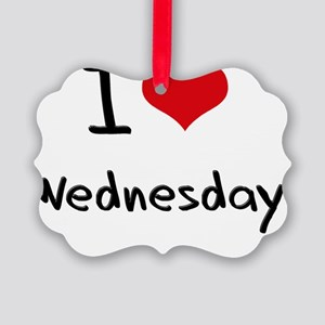 I love Wednesday Picture Ornament