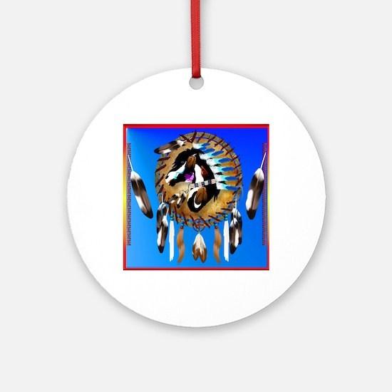 Spiritual Horse Round Ornament