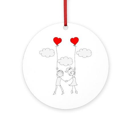 In Love Round Ornament