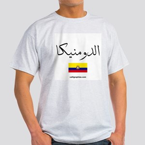 Dominican Republic Flag Arabic Light T-Shirt