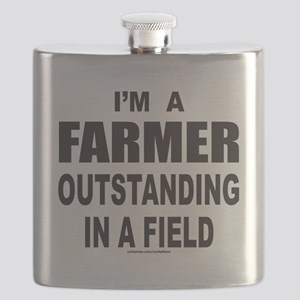 IM A FARMER T-SHIRTS AND GIFTS Flask