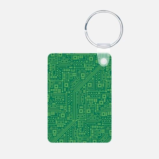 Green Circuit Board Keychains