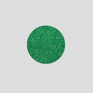 Green Circuit Board Mini Button