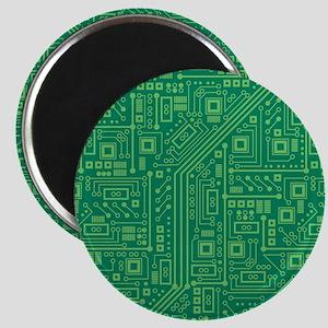 Green Circuit Board Magnet
