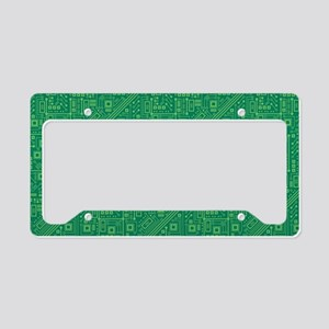 Green Circuit Board License Plate Holder