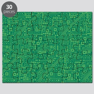 Green Circuit Board Puzzle
