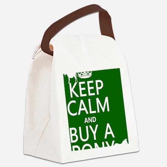 Keep Calm Buy A Pony Canvas Lunch Bag