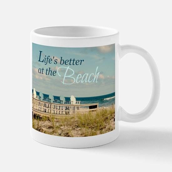 LIFE'S BETTER AT THE BEACH Mugs