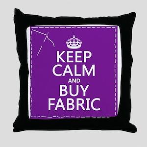 Keep Calm and Buy Fabric Throw Pillow